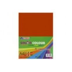 Картон для дизайна А4 180гр, 10л №1091 ORANGE RED ярко-оранжевый