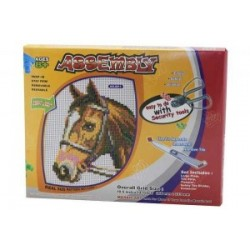 Мозаика пластиковая  №8001-8025 (36*18,5) В коробке Лошадка , Собачка