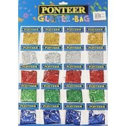 БЛЕСТКИ-присыпка №8140 (20 пакетиков на картоне//5цв) Мелкий глитер-песок/10уп, 200ящ