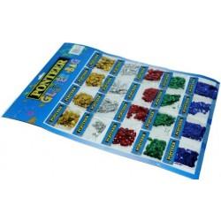 Набор ПАЕТОК №8141 (20 пакетиков на картоне//5цв)