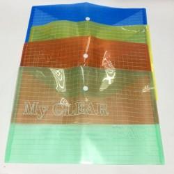 Папка-конверт А4 My CLEAR-W209-180 (плотн. ) уп 12шт Клетка