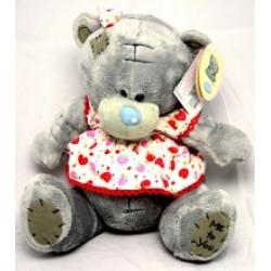 Игрушка №00365 Мишка Тедди в платье (плюшевый) 17см
