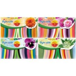 """Н-р для квиллинга """"Цветы"""" (3мм.*420мм. 9 цветов)+3 аппликации (12уп,168ящ)"""