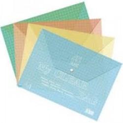 Папка-конверт А4 My CLEAR-W209-140 (дешевая. ) уп 12шт  В клеточку!!!