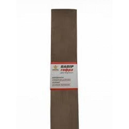 Гофро-бумага 60% 14CZ-020 50*200см, 10шт/уп. светло-коричневый