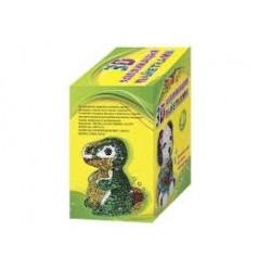Апликация №7659  с паетками и гвоздиками 3D Динозавр (8+)