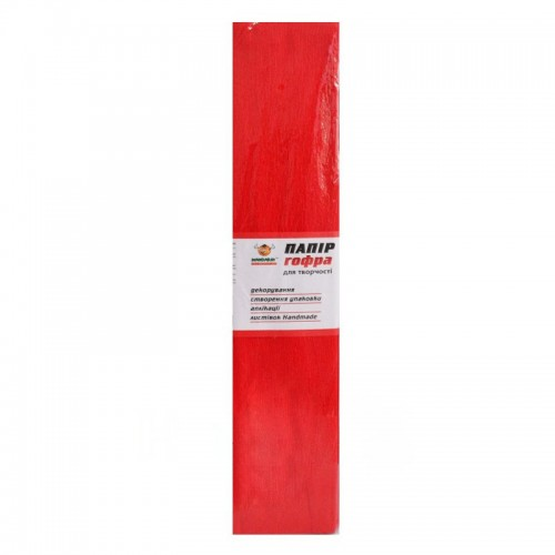 Гофро-бумага 100% 14CZ-Н012 50*200см, 10шт/уп. Red