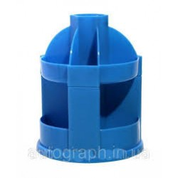 Органайзер наст ПНВ-1г  пластик,вращающийся ГОЛУБОЙ