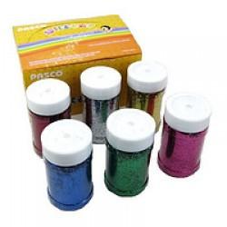 БЛЕСТКИ-присыпка в банке Pasco GL-008 (125 гр.) 6 цв./6 шт Мелкий глитер-песок/6уп,72ящ