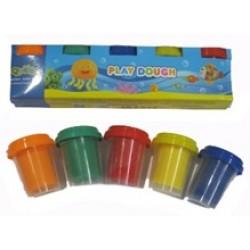 Масса для лепки/Play dough 2083 ( 5 цв 57 гр) В баночках