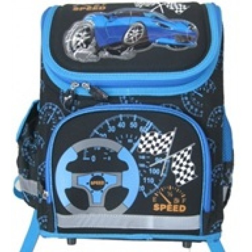 Ранец  №15992-CS Машина син  каркасный 35х27.5х16