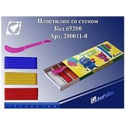 """Пластилин 280011-8 """"Монстрики"""" 8 цв. в картонной упаковке со стеком"""