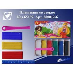 """Пластилин 280012-8 """"Принцесса"""" 8 цв. в картонной упаковке со стеком"""