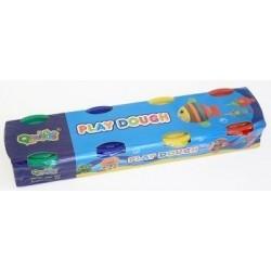 Масса для лепки/Play dough 2062 (4 цв. по 60 гр) в баночках, карт. уп