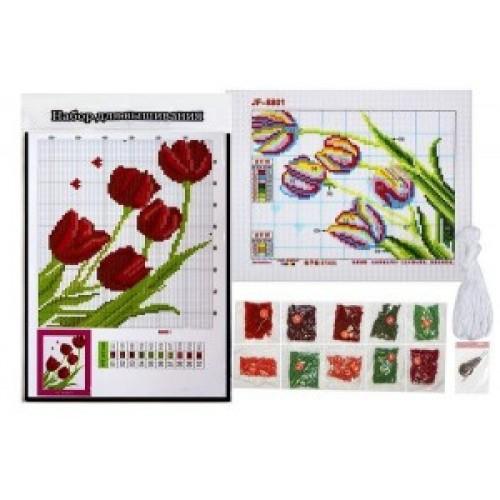 """Набор для вышивания бисером 8801-В """" Тюльпаны"""" 27.5*20.5см"""