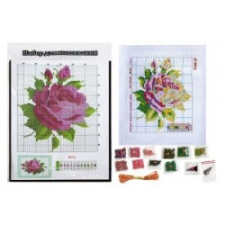 """Набор для вышивания бисером 8813-В """"Роза"""" 27.5*20.5см"""