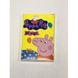Карты детские (36шт) KR24 Свинка Пепа (желтый)
