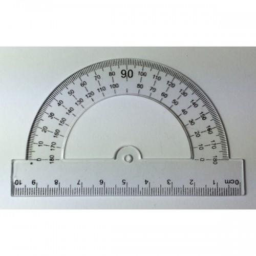 Транспортир пласт. № 3049-1 прозрачный 10 см