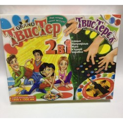 "Игра ""Твистер"" TWTK 2в1 +твистер для пальцев"