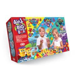 Набор 4в1 BIG CREATIVE BOX BCRB-01 (тесто для лепки, шарик. пласт, масса для лепки,кинет песок)