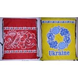 """Мешок для обуви 422-1 """"UA"""", герб, вышиванка (34*42см)"""