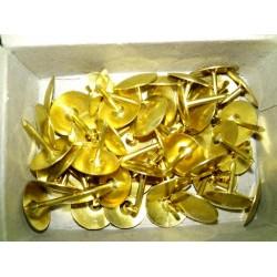 """Кнопка """"Гвоздик"""" (Hanfang) 501 золото (50шт / уп картон)"""