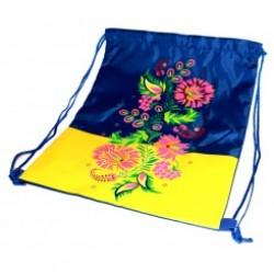 """Мешок для обуви 422-2 """"UA"""" герб, цветы (петриковка) (34*42см)"""