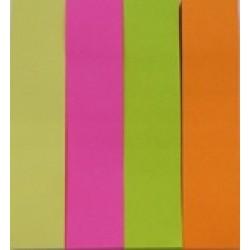 Стикеры самокл. Jie Jian B3-4 (4шт\ 76мм*19мм)100л. бумажные цветные неон/12уп,288ящ