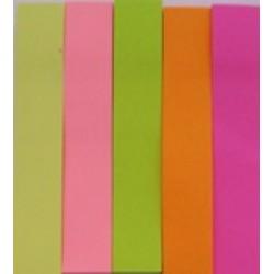 Стикеры самокл. Jie Jian B3-5 (5шт\ 76мм*15мм) 100л. бумажные цветные неон/12уп,288ящ