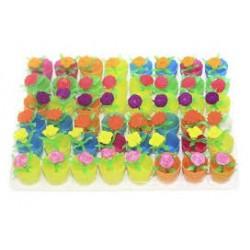 Игрушка-напухашка 8087 цветы в горшке маленькие 3,8 см (48шт/уп)