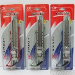 Нож канц. N5675 метал. 18 мм ( уп. блистер) микс цв.