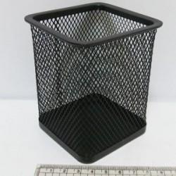 """Подставка для ручек метал. сетка DSCN3545_BK """"Квадратная"""" 8*8*9,5см черн"""