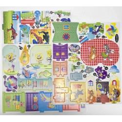 Пазлы 3D картон №MS (11 видов) 1 лист