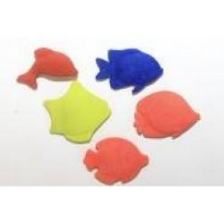 Игрушка-напухашка 8084 рыбы на планшете (20шт/уп)