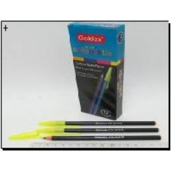 Ручка масл. №932 Goldex Colorstix (черн.) 1mm