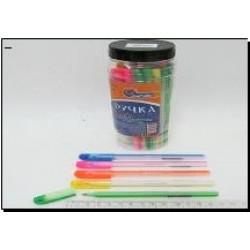 Ручка масл. № 875 Josef Otten Candy ( син.) в банке 0,6мм mix