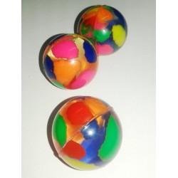 """Мяч-попрыгунчик №2113 """"Цветные пятнышки"""" 3,5см (в банке 50шт,микс)"""