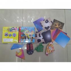 """Бумага для оригами 12059-1 """"Животные"""" 16*16, 12л (120)"""