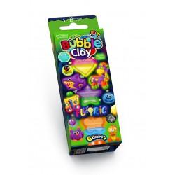 """Масса для лепки шариковая """"Bubble Clay 6 цветов"""" BBC-FL-6-02 светится в темноте +магнит"""