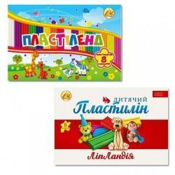 """Пластилин -8 цв. """"Пластиленд/Липландия"""" 160 гр. ТМ Тетрада №461369/461336"""