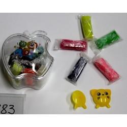 Масса для лепки/Peppy Pinto 383 ZX (14 цв)  банка-ЯБЛОКО + 2 формы
