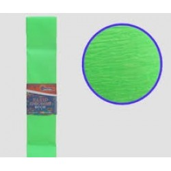 Бумага креповая 30% №KRFL-8093 ФЛУОРЕСЦЕНТНЫЙ ЗЕЛЕНЫЙ 50*200см, 20г/м2 (10 уп)