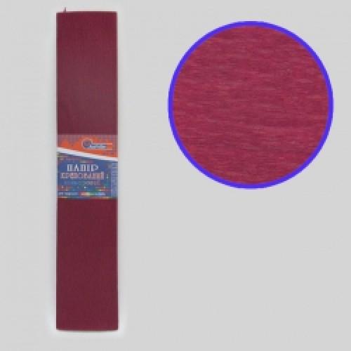 Бумага креповая 100% №KR110-8002 БОРДОВЫЙ 50*200см, 20г/м2 (10 уп)