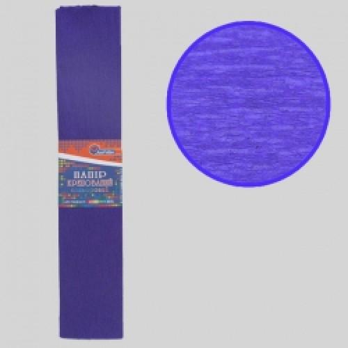 Бумага креповая 100% №KR110-8025 ТЕМНО-ФИОЛЕТОВЫЙ 50*200см, 20г/м2 (10 уп)