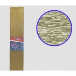 Бумага креповая 30% №KRGS-8038 НЕОН ЗОЛОТО 50*200см, 20г/м2 (10 уп)