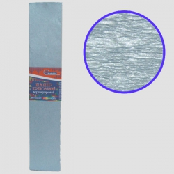 Бумага креповая 30% №KRPL-80107 ПЕРЛАМУТРОВЫЙ ГОЛУБОЙ 50*200см, 20г/м2 (10 уп)