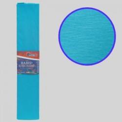 Бумага креповая 55% №KR55-8009 МОРСКАЯ ВОЛНА 50*200см, 20г/м2 (10 уп)