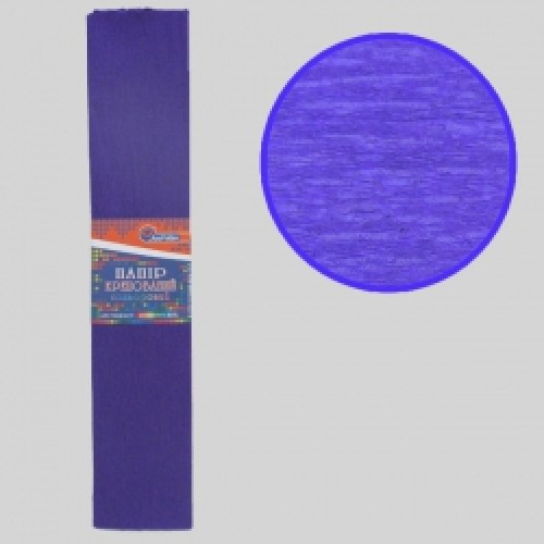 Бумага креповая 55% №KR55-8025 ФИОЛЕТОВЫЙ ТЕМНЫЙ 50*200см, 20г/м2 (10 уп)