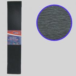 Бумага креповая 55% №KR55-8019 ЧЕРНЫЙ 50*200см, 20г/м2 (10 уп)