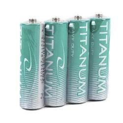 Батарейки солевые Titanum R6P/АА 4psp SHRINK (пальчик) GR